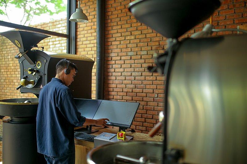 Hệ thống sản xuất cà phê hiện đại